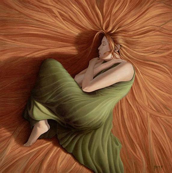 Una donna che dorme, forse sognando (Big Hair, by Blake Flynn)