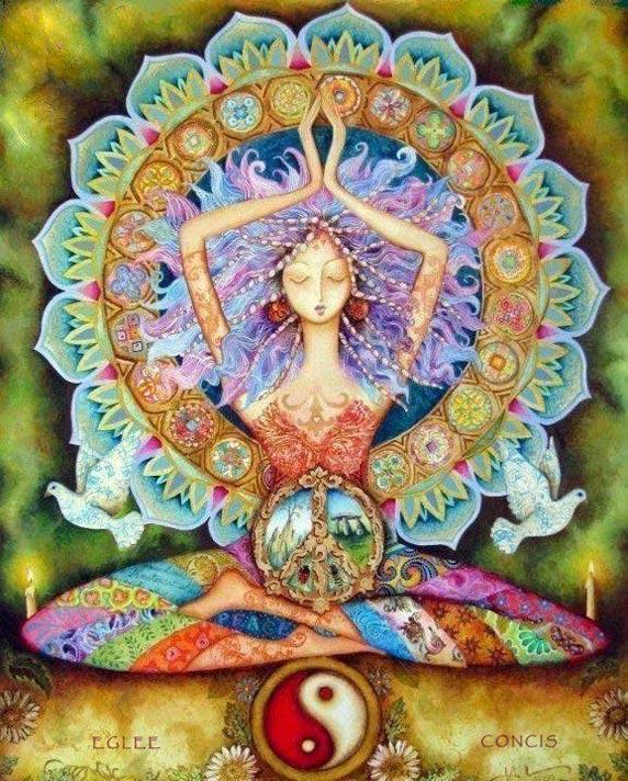 Una donna che medita