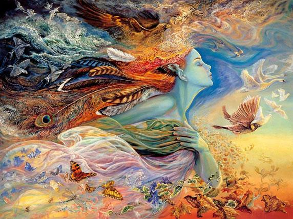 The Spirit of Flight (Lo spirito del volo), di Josephine Wall
